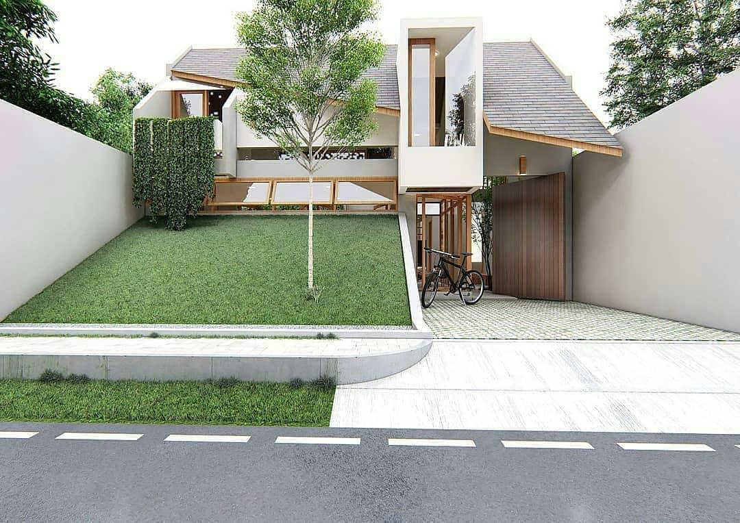 Desain Rumah Minimalis Modern Ukuran 10 X 18 Meter Dengan Taman Landai Depan Rumah Inspirasi Desain Rumah Terkini