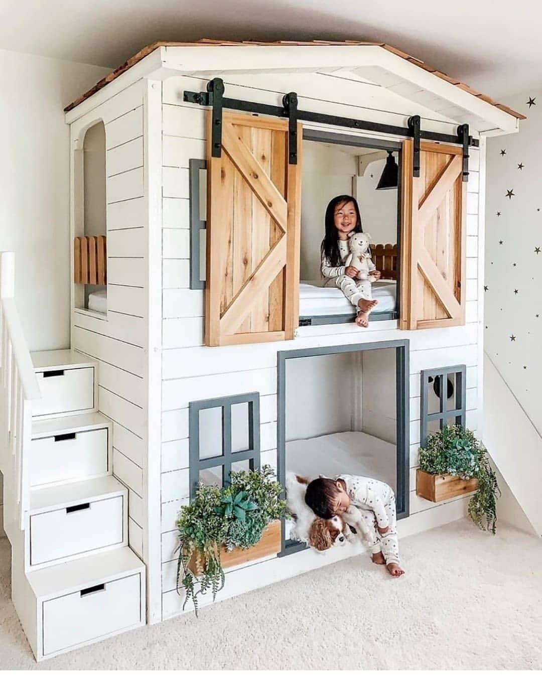 Desain Interior Kamar Tidur Anak Minimalis Dengan Konsep Farmhouse Untuk 2  Orang Anak - Inspirasi Desain Rumah Terkini