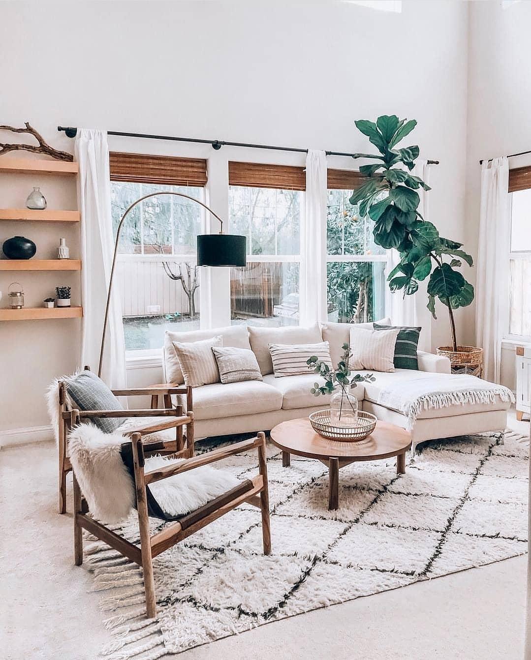 Desain Ruang Tamu Minimalis Modern Kesan Klasik Dengan White Interior Inspirasi Desain Rumah Terkini