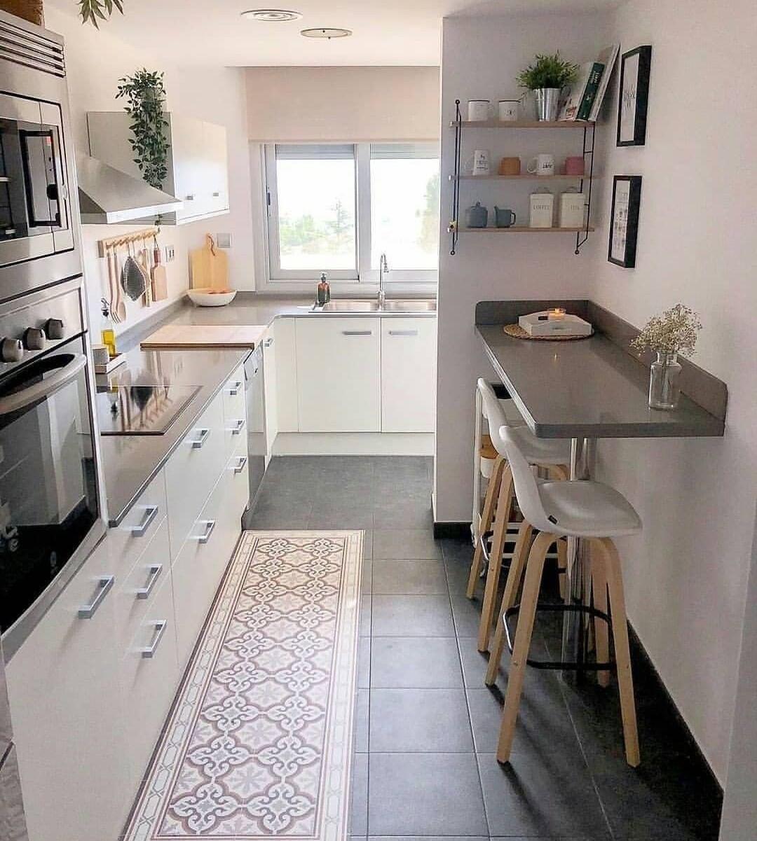 Desain Interior Dapur Minimalis dan Ada Bar Mininya dengan Gaya