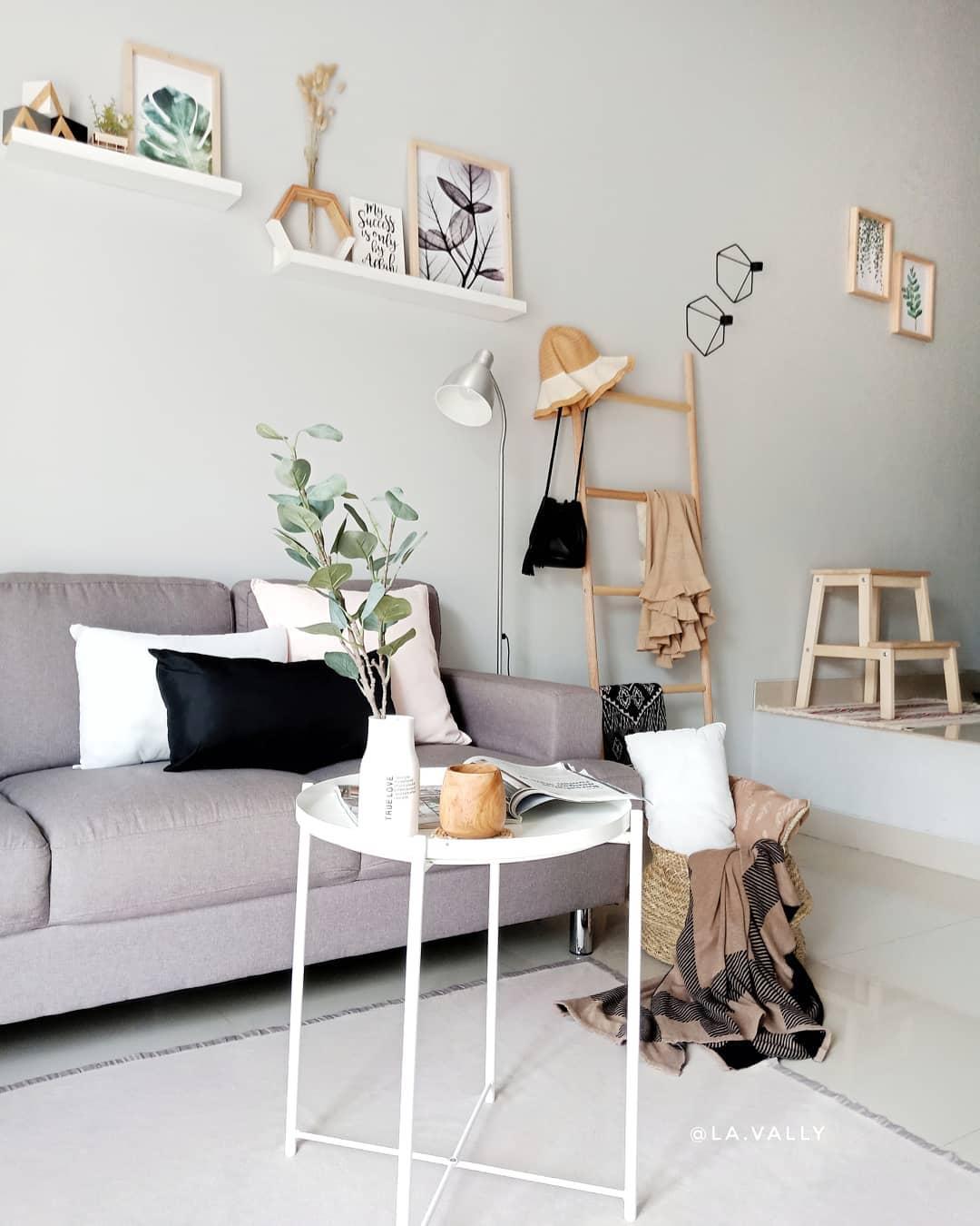 Desain Interior Ruang Keluarga Minimalis dengan Tema Boho ...