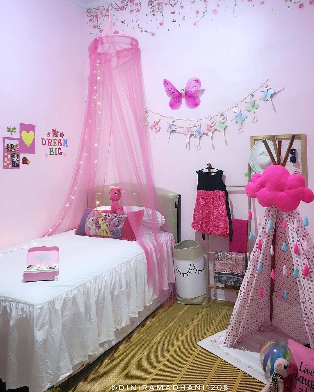 Desain Interior Kamar Tidur Anak Minimalis Ala Princess Bernuansa