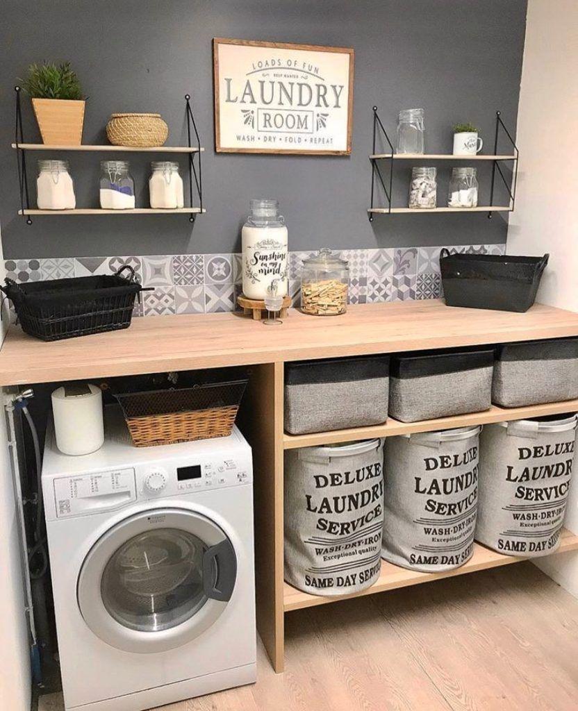 Desain Interior Laundry Room Minimalis dengan Ubin Motif ...