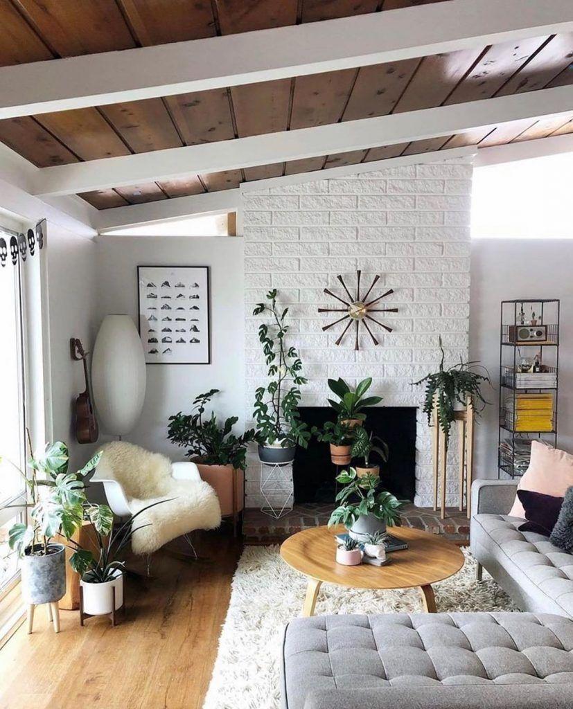 Desain Interior Ruang Tamu dengan Perpaduan Gaya Interior Modern Bohemian dan Industri Abad Pertengahan