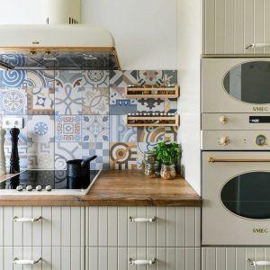 desain interior dapur minimalis dengan konsep mediterania