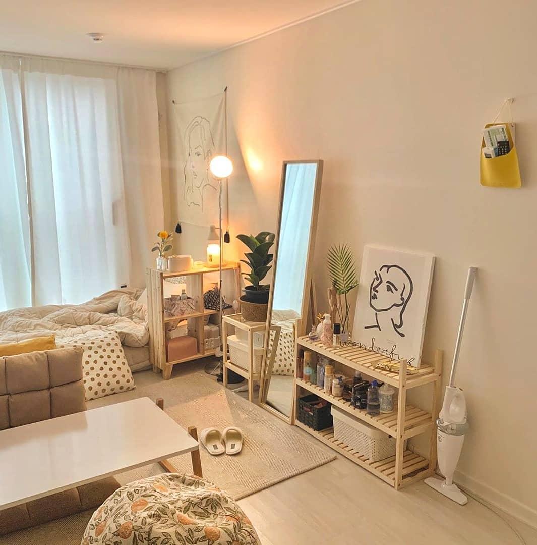 Desain Interior Kamar Tidur dengan Tema Light dan Bright Ala Scandinavian