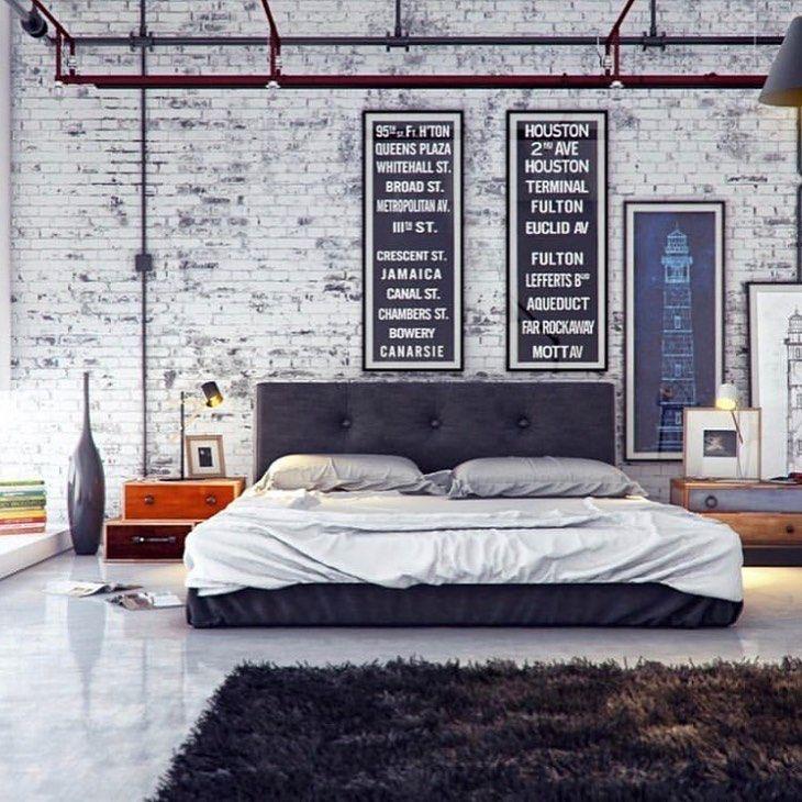 Desain Interior Kamar Tidur dengan Nuansa Industrial yang ...